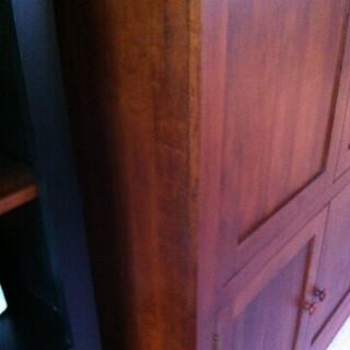 Cabinet scratch repair - after